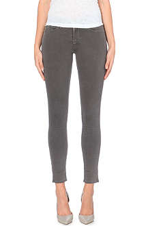 FRAME Le Luxe Noir skinny mid-rise jeans