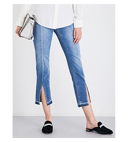FRAME Le nouveau released-hem straight high-rise jeans (Boulder