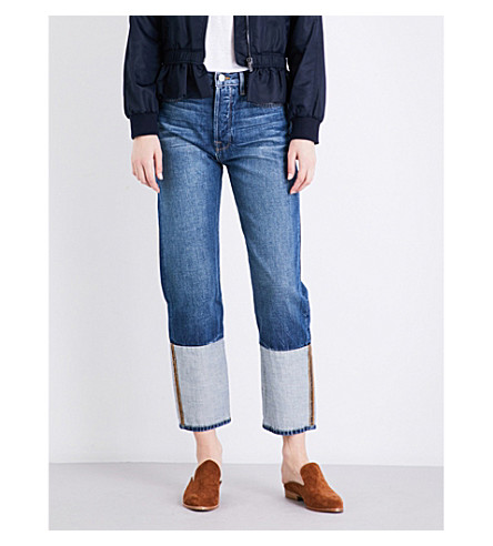 FRAME Le Original cuffed high-rise boyfriend-fit jeans (Nimes