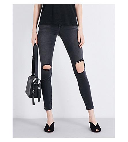 FRAME Le Skinny De Jeanne distressed skinny mid-rise jeans (Killbourn
