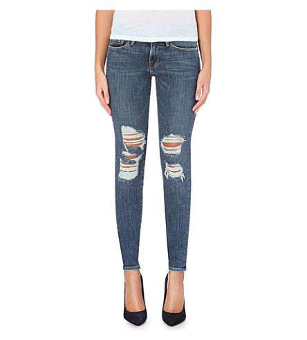 FRAME Le Skinny de Jeanne distressed mid-rise jeans (Seville
