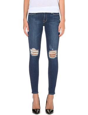FRAME Distressed skinny jeans