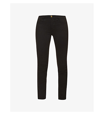 FRAME Le Skinny de Jeanne skinny mid-rise jeans (Film+noir