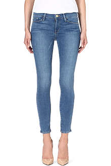 FRAME Le Skinny cropped mid-rise jeans