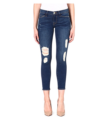 FRAME Le Skinny cropped mid-rise jeans (Hanover street