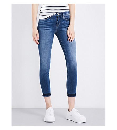 FRAME Le Skinny De Jeanne released-hem skinny mid-rise jeans (Dunesboro
