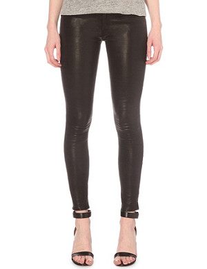 FRAME Le Skinny high-rise leather jeans