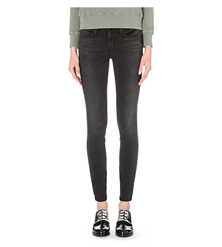 FRAME Le Stacked skinny mid-rise jeans (Knightrider