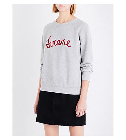 FRAME Old school embroidered logo sweatshirt (Gris