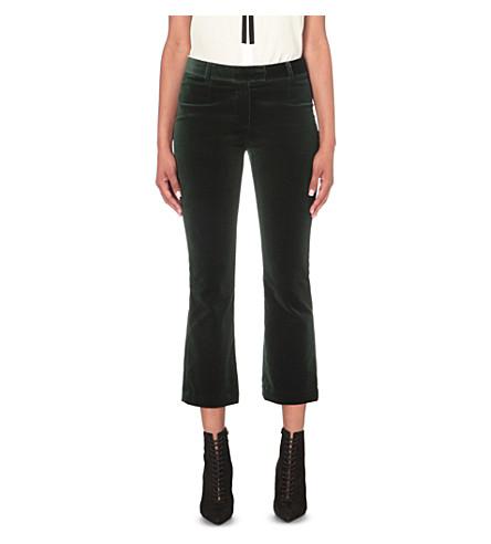 Velvet cropped trousers Frame Denim QJOqKmIG