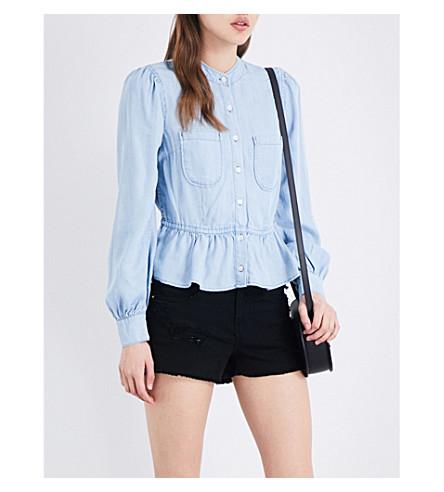 FRAME Double Pocket chambray blouse (Rowan