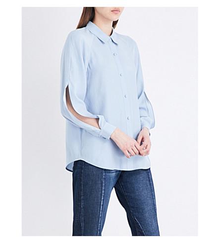 FRAME Split-sleeve silk blouse (Bluebell