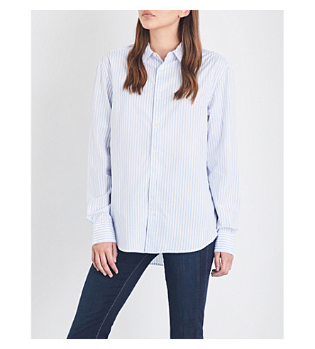 FRAME Striped cotton shirt (Capri+blue