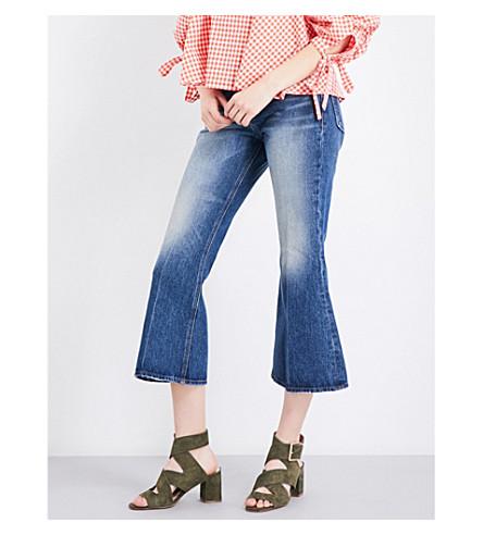 FRAME Le Crop high-rise flared jeans (Jagger