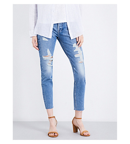 FRAME Rigid Re-Release Le Original distressed skinny high-rise jeans (Vine