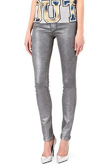 KILL CITY Hi Wire coated skinny mid-rise jeans