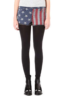 KILL CITY Hi Wire American Flag denim shorts