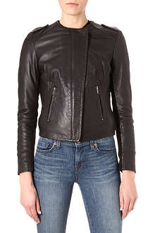 MUUBAA Zaire collarless biker jacket