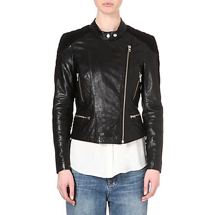 MUUBAA Yarra leather biker jacket (Black