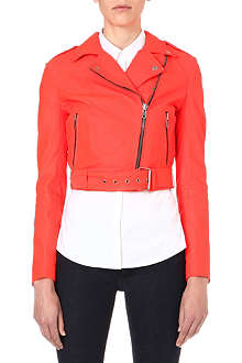 MUUBAA Sembri cropped leather biker jacket