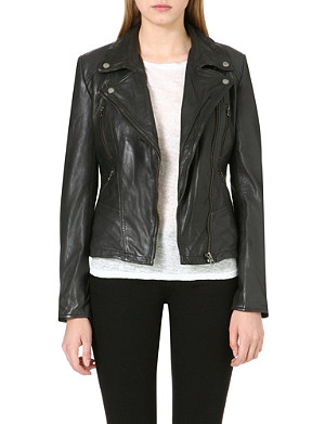 FREE PEOPLE Leather biker jacket