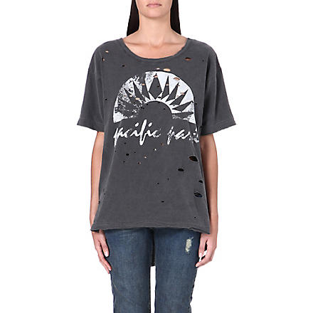 FREE PEOPLE Graphic boyfriend tee (Charcoal