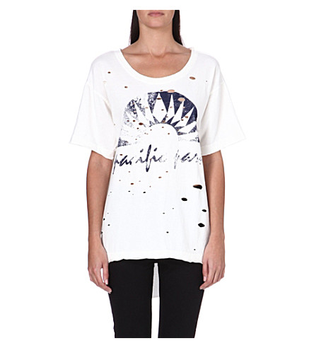 FREE PEOPLE Graphic boyfriend tee (Ivory