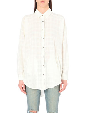 FREE PEOPLE Dobby textured shirt