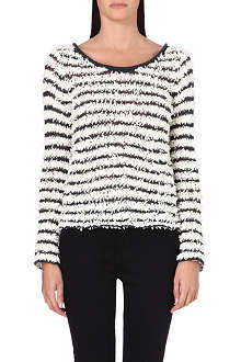 FREE PEOPLE Textured stripe jumper