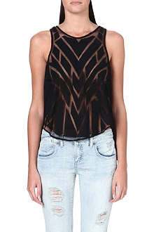 FREE PEOPLE Ginger cutwork top