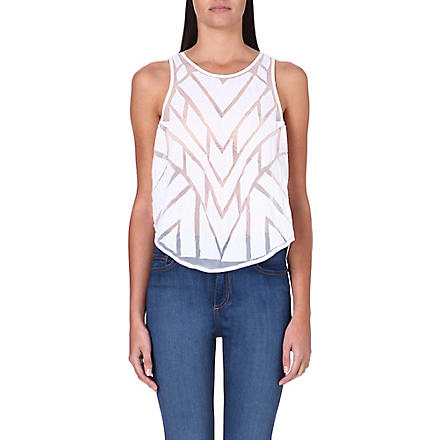 FREE PEOPLE Ginger cutwork top (White
