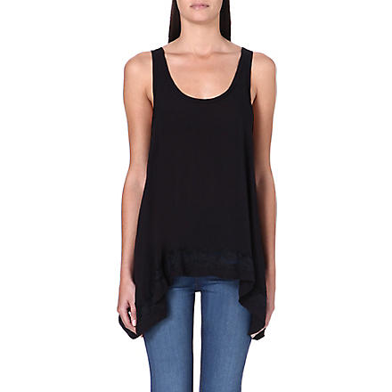 FREE PEOPLE Sleeveless lace cami top (Black