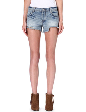FREE PEOPLE Faded denim shorts