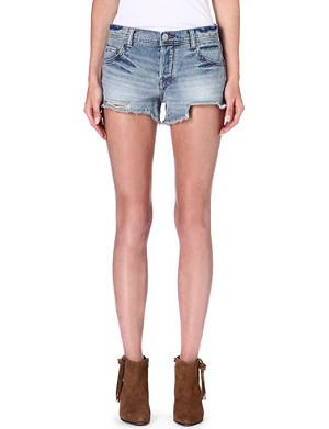 FREE PEOPLE Faded denim shorts