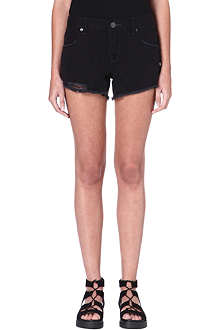 FREE PEOPLE Shark Bite denim cut-off shorts