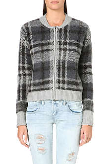 FREE PEOPLE Knitted check cardigan