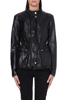 FREE PEOPLE Faux leather cargo jacket