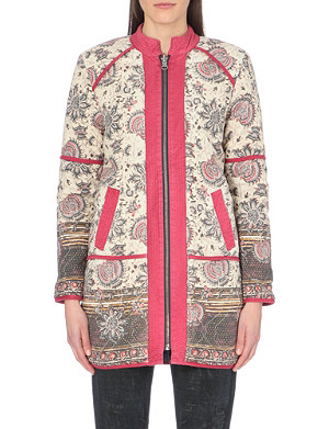 FREE PEOPLE Quilted long-sleeve coat