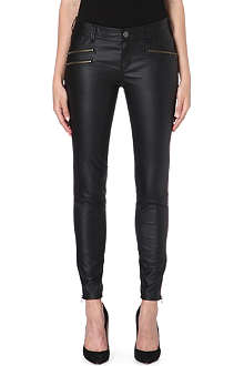 FREE PEOPLE Vean skinny faux-leather trousers