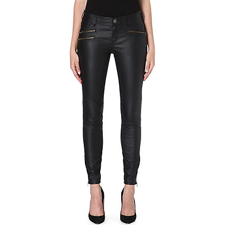 FREE PEOPLE Vean skinny faux-leather trousers (Black