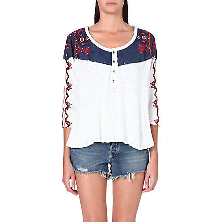 FREE PEOPLE Rio Henley top (Ivory