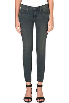 FREE PEOPLE Skinny mid-rise jeans