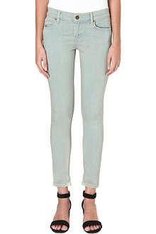 FREE PEOPLE Skinny mid-rise jeans