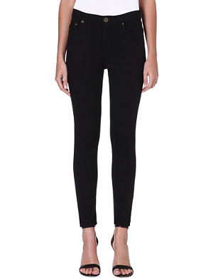 FREE PEOPLE Skinny high-rise crop jeans
