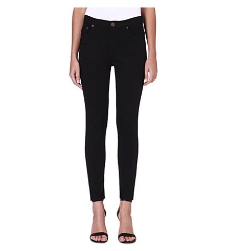 FREE PEOPLE Skinny high-rise crop jeans (Black