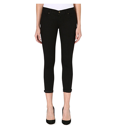 FREE PEOPLE Cropped skinny jeans (Black