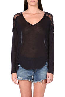 FREE PEOPLE Semi-sheer Gatsby top