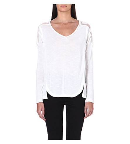FREE PEOPLE Semi-sheer Gatsby top (Ivory