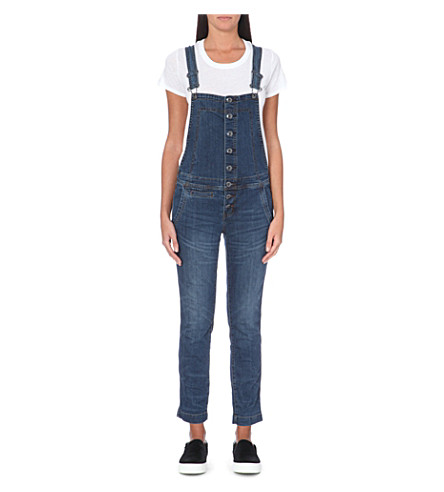 FREE PEOPLE Jacob wash button-front overalls (Jacob wash