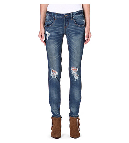 FREE PEOPLE Mid-rise skinny jeans (Engineered